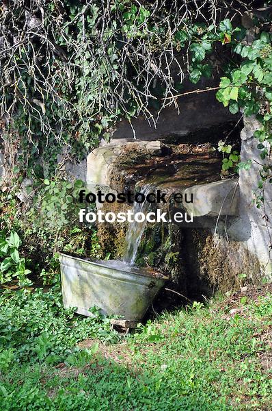 Wasserlauf im ehemaligen Wasserschloss in Nieder-Wiesen, 18. Jh.