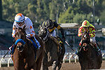 ARCADIA, CA FEBRUARY 4: #3 Dream Tree, ridden by Drayden Van Dyke, wins the Las Virgenes Stakes (Grade ll) on February 4, 2018, at Santa Anita Park, in Arcadia, Ca. (Photo by Casey Phillips/ Eclipse Sportswire/ Getty Images)