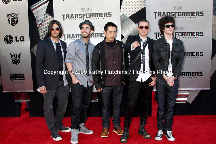 "Linkin Park arriving at the ""Transformers: Revenge of the Fallen"" Premiere at the Mann's Village Theater in Westwood, CA  on June 22, 2009.  .©2009 Kathy Hutchins / Hutchins Photo"