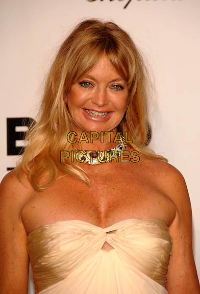 GOLDIE HAWN .Arrivals to the Cinema Against AIDS 2007 in aid of amfAR at Le Moulin de Mougins during 60th International Cannes Film Festival, Cannes, France  .May 23rd, 2007.half length diamond necklace jewellery jewelry strapless cream cleavage .CAP/PL.©Phil Loftus/Capital Pictures
