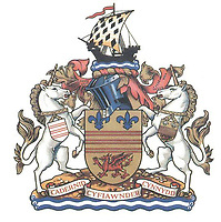 Pictured: The Barry Town Council coat of arms. STOCK PICTURE<br /> Re: Tim Martin, the owner of Wetherspoon has clashed with council officials after the town's coat of arms was used on a pub carpet in Barry, south Wales, UK.<br /> The Town Council has demanded that the new carpet at the Sir Samuel Romilly pub to be removed.<br /> The carpet was fitted in in the Vale of Glamorgan seaside town pub during a £715,000 revamp.<br /> The case could be the first heard at the Court of Chivalry -set up in the 14th Century to settle coat of arms disputes- in more than 60 years.<br /> The court last sat in 1954.