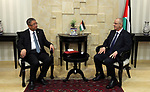 Palestinian Prime Minister Rami Hamdallah meets with Gong Xiaosheng, China's special envoy on Middle East affairs, in the West Bank city of Ramallah on May 30, 2017. Photo by Prime Minister Office