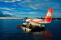 8Q-TMO, DHC-6 Twin-Otter parked at floating platform