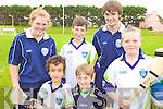 CAMP: Players and coaches at the VHI GAA Cu?l Camp in Killorglin on Thursday last, front l-r: Oisi?n Harmer, Mike O'Donnell, Liam Heffernan. Back l-r: Laura Collins, Shane Hanafin, Conor O'Neill.