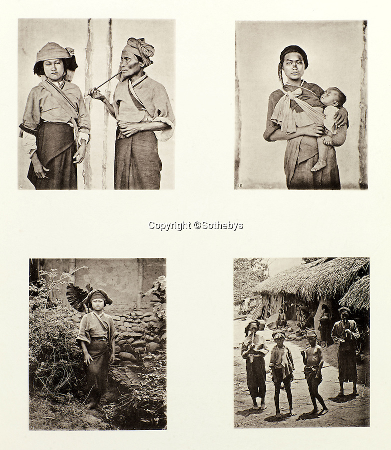 BNPS.co.uk (01202 558833)<br /> Pic: Sothebys/BNPS<br /> <br /> The Pepohoan people of Formosa - modern Taiwan.<br /> <br /> Rare early photographs revealing what life in China looked like for the first time to the 19th century public have emerged 140 years after they were taken. <br /> <br /> The stunning collection - comprising 200 black and white photographs of Far East landscapes and wide-ranging personal portraits of everybody from rural peasants to senior government officials - was the first volume of photos from the region to ever be included in a travel book. <br /> <br /> Produced at a time when camera technology was still in its infancy, they were taken by celebrated Scottish photographer John Thomson between 1873 and 1874 during a 4,000-mile expedition across the country. <br /> <br /> And now one of the last remaining copies of the album still known to exist is set to go under the hammer at Sotheby's in London on November 7 with an estimate of £35,000.