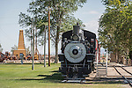 The Slim Princess, No. 9 steam locomotive (narrow gauge), old railroad depot, Collections at the Laws Museum, Inyo County, Calif.