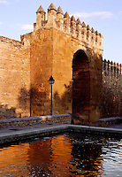 The Almodovar Gate, 14th Century, Walls, Entrance to the Jewish Quarter, Cordoba, Andalusia, Spain. Picture by Manuel Cohen