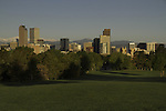 Downtown skyline from City Park, Denver, Colorado, USA.