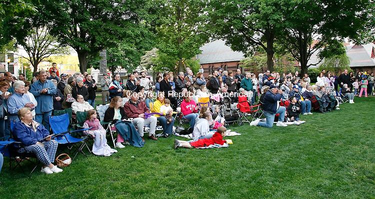 NAUGATUCK, CT 05/18/09- 051809BZ04- A large crowd gathered on the green Monday night to watch the innauguration of Naugatuck Mayor Bob Mezzo (D).<br /> Jamison C. Bazinet Republican-American