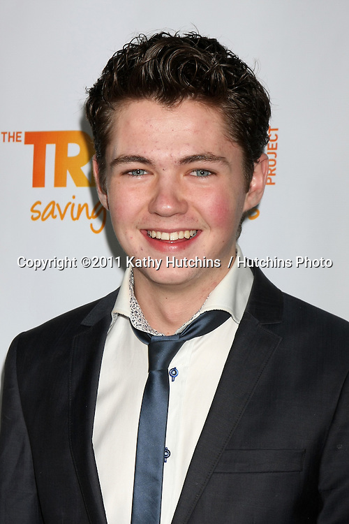 """LOS ANGELES - DEC 4:  Damian McGinty arrives at """"The Trevor Project's 2011 Trevor Live!"""" at Hollywood Palladium on December 4, 2011 in Los Angeles, CA"""