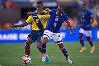 Action photo during the match Ecuador vs Haiti at MetLife Stadium Copa America Centenario 2016. ---Foto  de accion durante el partido Ecuador vs Haiti, En el Estadio MetLife Partido Correspondiante al Grupo - B -  de la Copa America Centenario USA 2016, en la foto: (I)-(D) Antono Valencia, Kim Jaggy<br /> <br /> -- 12/06/2016/MEXSPORT/Javier Ramirez.