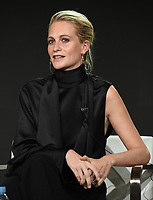 """PASADENA - JANUARY 13: Cast member Poppy Delevingne during the """"GENIUS: PICASSO"""" panel at the NATIONAL GEOGRAPHIC portion of the 2018 Winter TCA Press Tour at the Langham Huntington Hotel on January 13, 2018, in Pasadena, California. (Photo by Frank Micelotta/National Geographic/PictureGroup)"""