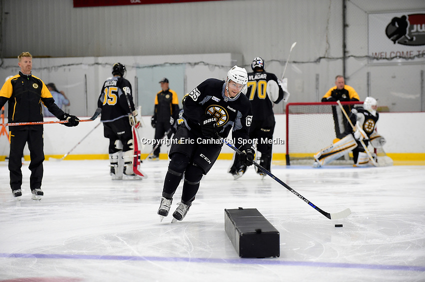 skates at the 2016 Boston Bruins development camp, held at Ristuccia Arena, in Wilmington, Massachusetts. Eric Canha/CSM