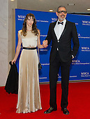 Emilie Livingston and Jeff Goldblum arrive for the 2014 White House Correspondents Association Annual Dinner at the Washington Hilton Hotel on Saturday, May 3, 2014.<br /> Credit: Ron Sachs / CNP<br /> (RESTRICTION: NO New York or New Jersey Newspapers or newspapers within a 75 mile radius of New York City)