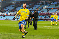 Leeds United's Pontus Jansson celebrates with fans after the match<br /> <br /> Photographer Alex Dodd/CameraSport<br /> <br /> The EFL Sky Bet Championship - Aston Villa v Leeds United - Sunday 23rd December 2018 - Villa Park - Birmingham<br /> <br /> World Copyright &copy; 2018 CameraSport. All rights reserved. 43 Linden Ave. Countesthorpe. Leicester. England. LE8 5PG - Tel: +44 (0) 116 277 4147 - admin@camerasport.com - www.camerasport.com