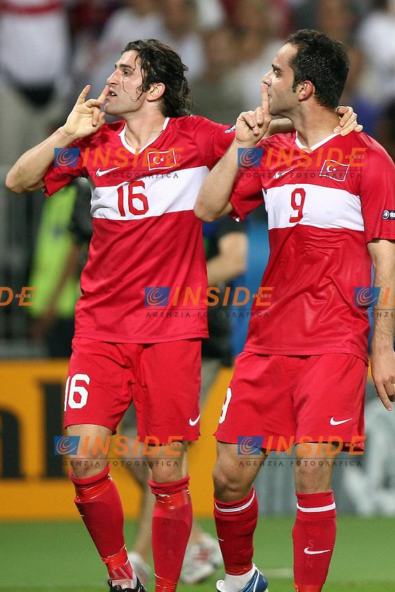 MG Vienna ( Austria) 20/06/2008  - Euro 2008 / Croazia-Turchia/ Foto Andrea Staccioli / Insidefoto<br /> Nella foto: Esultanza Gol Senturk