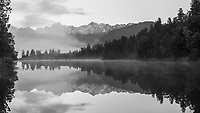 Lake Matheson, Westland Tai Poutini National Park, UNESCO World Heritage Area,  West Coast, New Zealand, NZ
