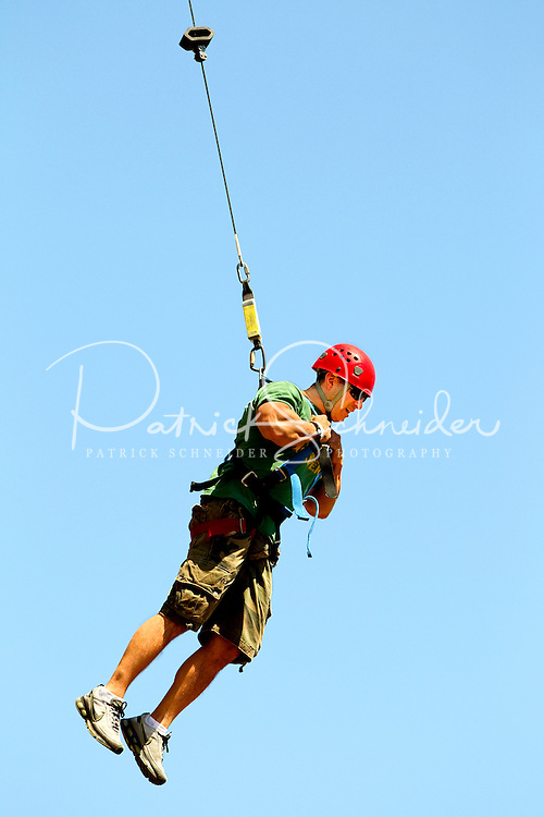 A visitor to the US National Whitewater Center in Charlotte experiences some high adventure activities.