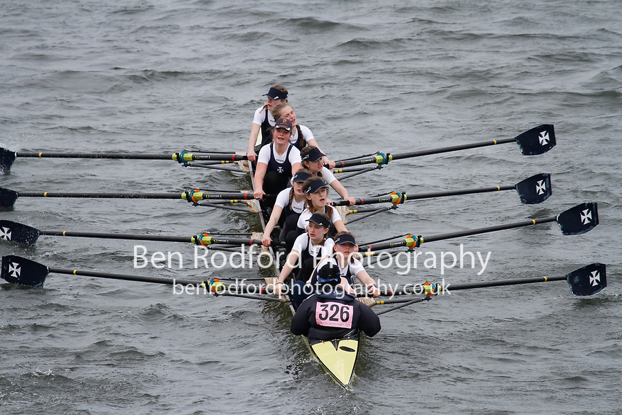 Crew: 326  Royal Shrewsbury Sch  Event: Girls J15 CHAMP eights<br /> <br /> Schools' Head of the River 2017<br /> <br /> To purchase this photo, or to see pricing information for Prints and Downloads, click the blue 'Add to Cart' button at the top-right of the page.
