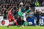 01.12.2018, Weserstadion, Bremen, GER, 1.FBL, Werder Bremen vs FC Bayern Muenchen<br /> <br /> DFL REGULATIONS PROHIBIT ANY USE OF PHOTOGRAPHS AS IMAGE SEQUENCES AND/OR QUASI-VIDEO.<br /> <br /> im Bild / picture shows<br /> Robert Lewandowski (FC Bayern Muenchen #09), Maximilian Eggestein (Werder Bremen #35), <br /> <br /> Foto &copy; nordphoto / Ewert
