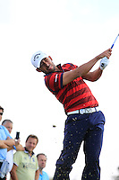 Pablo Larrazabal (ESP) on the 9th tee during Round 2 of the KLM Open at Kennemer Golf &amp; Country Club on Friday 12th September 2014.<br /> Picture:  Thos Caffrey / www.golffile.ie
