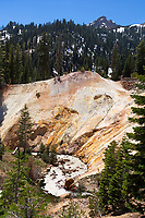 Spring runoff flows through a stream below the Sulphur Works area of Lassen Volcanic National Park