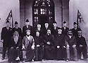 Iraq 1933.Baghdad: The senate with seating 4th from right Mohamed al Sader ( Shiah ) president of the senate , standing third from left, Ahmed Uthman ( Kurd ) and extreme right Ezra Menahim Daniel ( Jewish )