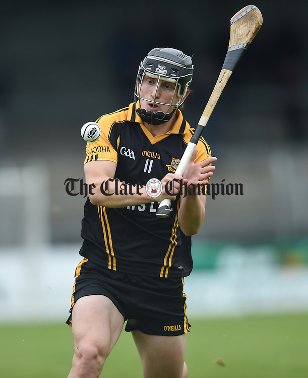 Martin O Leary of Ballyea in action against Cratloe during their match in Ennis. Photograph by John Kelly.