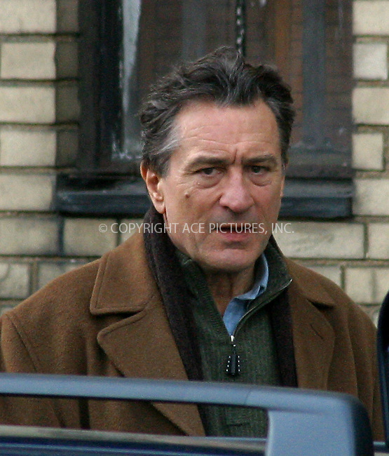 Robert De Niro on the set of their new movie, 'Hide & Seek.' New York. March 26, 2004. Please byline: BRIAN FLANNERY/ACE Pictures.   ..*PAY-PER-USE*      ....IMPORTANT: Please note that our old trade name, NEW YORK PHOTO PRESS (NYPP), is replaced by our new name, ACE PICTURES. New York Photo Press and ACE Pictures are owned by All Celebrity Entertainment, Inc.......All Celebrity Entertainment, Inc:  ..contact: Alecsey Boldeskul (646) 267-6913 ..Philip Vaughan (646) 769-0430..e-mail: info@nyphotopress.com