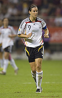 Germany forward (9) Birgit Prinz. Germany (GER) defeated Argentina (ARG) 11-0 during an opening round Group A match of the FIFA Women's World Cup China 2007 at Shanghai Kongkou Football Stadium, Shanghai, China, on September 10, 2007.