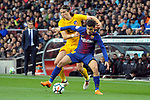 League Santander 2017/2018. Game: 28.<br /> FC Barcelona vs At. Madrid: 1-0.<br /> Filipe Luis vs Philippe Coutunho.