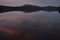 Sunset at Whitney Lake the West Canada Lake Wilderness Area in the Adirondack Forest Preserve in New York State