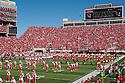 11 September 2010: The Nebraska Marching band pre-game for the game against Idaho at Memorial Stadium in Lincoln, Nebraska. Nebraska defeated Idaho 38 to 17.