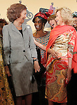 Queen Sofia of Spain and the State Council member Maria Teresa Fernandez de la Vega during the premiere of the documentary film about African women in Spain 'Manzanas, Pollos y Quimeras - Apples, Chicken and Chimeras' by Spanish director Ines Paris.October 29,2013. (ALTERPHOTOS/Acero)
