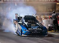 Nov 9, 2018; Pomona, CA, USA; NHRA funny car driver Shawn Langdon during qualifying for the Auto Club Finals at Auto Club Raceway. Mandatory Credit: Mark J. Rebilas-USA TODAY Sports