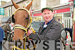 Limerick Visitor; Sean Hartigan from Croom in Co Limerick at the fair in Listowel on Thursday.