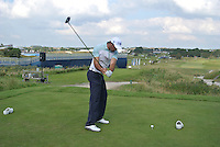 Ricardo Santos (POL) on the 10th tee during Round 2 of the KLM Open at Kennemer Golf &amp; Country Club on Friday 12th September 2014.<br /> Picture:  Thos Caffrey / www.golffile.ie