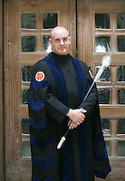 The Assistant Dean, who attends the degree ceremony, Guildford Cathedral.