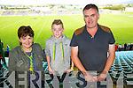 Maryann Doyle, Reece Keane, Gerard Doyle at the Senior County Hurling final, Lixnaw V Kilmoyley at Austin Stack Park on Sunday