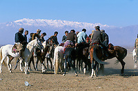 "A Buzkashi between North Alliance Mujahidin in the Panshir valley..""bOzkashI"" is one of the ancient games played in Afghanistan. The name of this game is perhaps derived from hunting mountain goats by ancient champions n horseback..-The full text reportage is available on request in Word format"