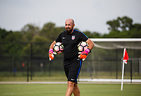 Lakewood Ranch, FL - Sunday July 23, 2017: Goalkeeper coach during an international friendly match between the paralympic national teams of the United States (USA) and Canada (CAN) at Premier Sports Campus at Lakewood Ranch.