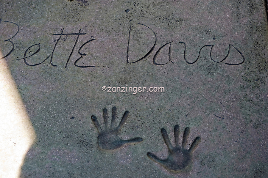 Bette Davis, Hand - Footprint Impressions, Grauman's Chinese Theater, Hollywood, CA