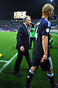 (L-R)   Alberto Zaccheroni, Keisuke Honda (JPN),.JUNE 3, 2012 - Football / Soccer :.Head coach Alberto Zaccheroni and Keisuke Honda of Japan leave the pitch after the 2014 FIFA World Cup Asian Qualifiers Final round Group B match between Japan 3-0 Oman at Saitama Stadium 2002 in Saitama, Japan. (Photo by Takahisa Hirano/AFLO)