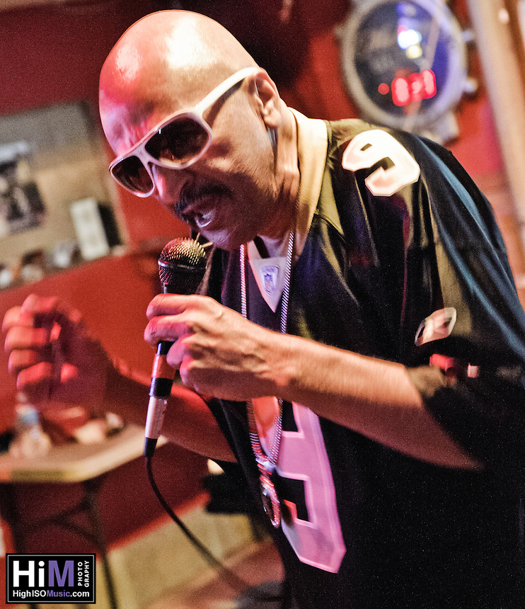 "The ""60 Year Old Rapper With a Bad Knee"" performs at Bullet's in New Orleans, LA."