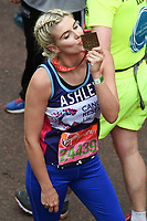 Ashley James<br /> at the finish line on The Mall at the 2017 London Marathon, London. <br /> <br /> <br /> &copy;Ash Knotek  D3254  23/04/2017