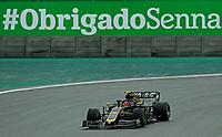 15th November 2019; Autodromo Jose Carlos Pace, Sao Paulo, Brazil; Formula One Brazil Grand Prix, Practice Day; Kevin Magnussen (DEN) Haas F1 Team VF-19 - Editorial Use