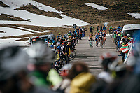 (almost) last riders descending the Umbrailpass (Alt: 2502m)<br /> <br /> Stage 16: Rovett &rsaquo; Bormio (222km)<br /> 100th Giro d'Italia 2017