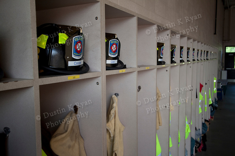 South Carolina Fire Academy Images lockers and signs personal protection equipment