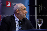 "London, 19/05/2015. Today, LSE (London School of Economics and Political Studies) presented a public lecture called ""The Great Divide"" hosted by the author of the homonymous book, Prof. Joseph E. Stiglitz (American economist, Professor at Columbia University, recipient of the Nobel Memorial Prize in Economic Sciences in 2001 and the John Bates Clark Medal in 1979. He is the former Senior Vice President and Chief Economist of the World Bank, and he is also a former member and chairman of the US President's Council of Economic Advisers. Prof. Stiglitz is well known for his critical view of the management of globalization, free-market economists - whom he calls ""free market fundamentalists"" - , and some international institutions like the International Monetary Fund and the World Bank. In 2000, Stiglitz founded the Initiative for Policy Dialogue, IPD, a think tank on international development based at Columbia University). Chair of the event was Prof. Sir John Robert Hills CBE (British academic, he is a professor of Social Policy at the London School of Economics and has been director of the ESRC Research Centre for the Analysis of Social Exclusion since 1997. His work has focused on inequality).<br />