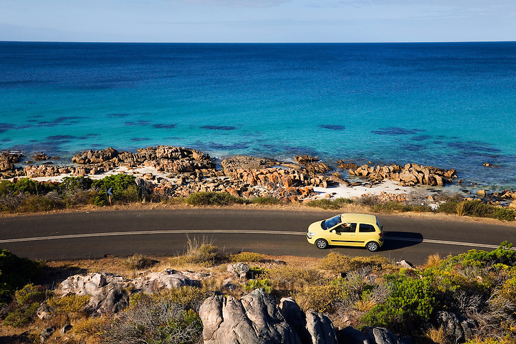 Driving the coastline of Geographe Bay, near Dunsborough, Western Australia, AUSTRALIA.